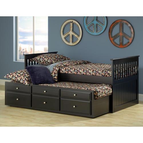 Bernards - Logan Twin Captain's Bed - Black