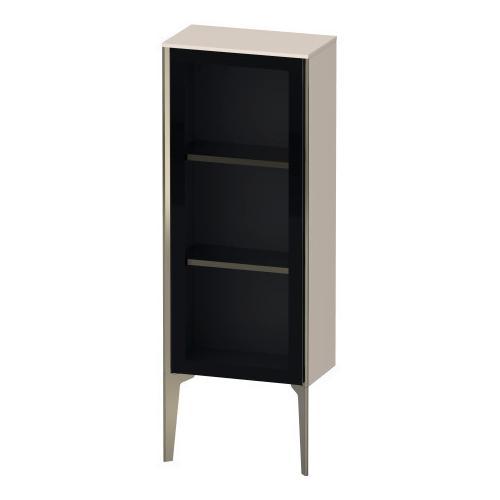 Duravit - Semi-tall Cabinet With Mirror Door Floorstanding, Taupe Matte (decor)
