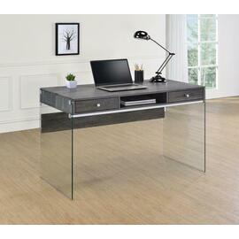 See Details - Contemporary Weathered Grey Writing Desk