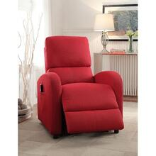 RED RECLINER W/POWER LIFT