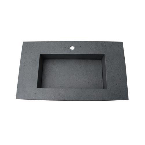 "Precious 33"" Wall-Hung Sink with Invisible Drain - Single-Hole / Carrara"