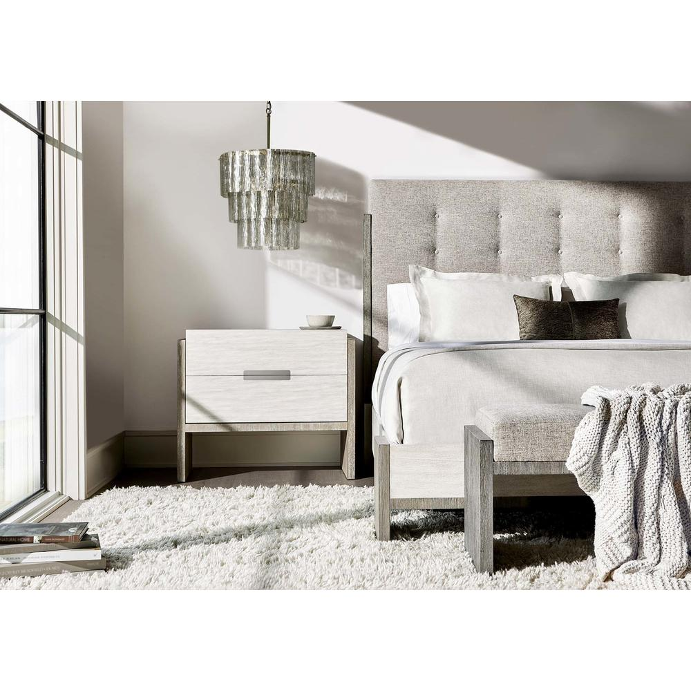 Queen Foundations Panel Bed in Light Shale (306), Linen (306)
