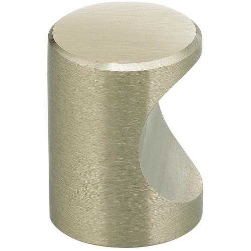 Modern Cabinet Knob - Solid Brass in (US15 Satin Nickel Plated, Lacquered)