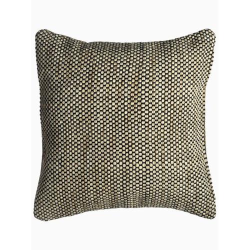 """Fab Habitat - Kingscote Indoor Outdoor Decorative Pillow - Black And Beige (20"""" x 20"""")"""
