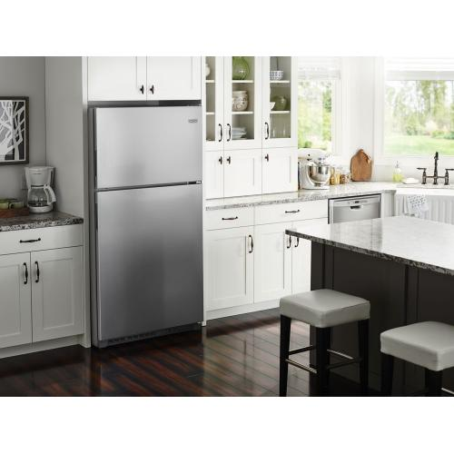 Maytag - 30-Inch Wide Top Freezer Refrigerator with PowerCold® Feature- 18 Cu. Ft.