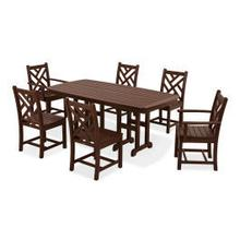 View Product - Chippendale 7-Piece Dining Set in Mahogany