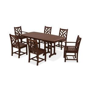 Polywood Furnishings - Chippendale 7-Piece Dining Set in Mahogany