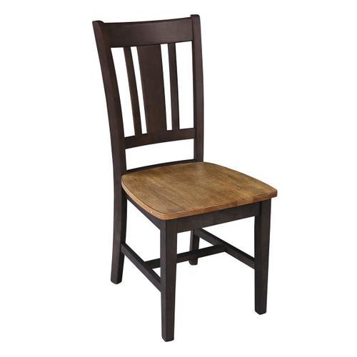 San Remo Chair in Hickory Coal
