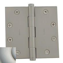 Satin Nickel with Lifetime Finish Square Corner Hinge