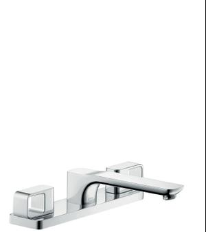 Chrome 3-hole rim mounted bath mixer Product Image