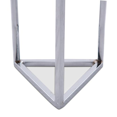Silver Stand W/crystal Cube Large - Pack/4