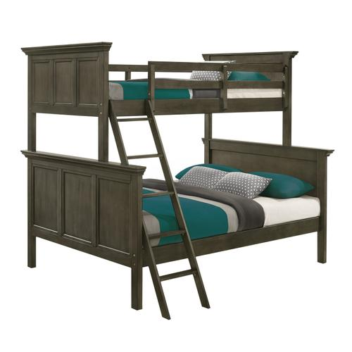 Intercon Furniture - San Mateo Youth Twin over Full Bunk Bed  Gray