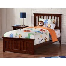 Mission Twin XL Bed with Matching Foot Board in Walnut
