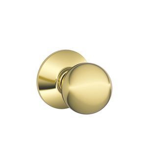 Orbit Knob Hall & Closet Lock - Bright Brass Product Image
