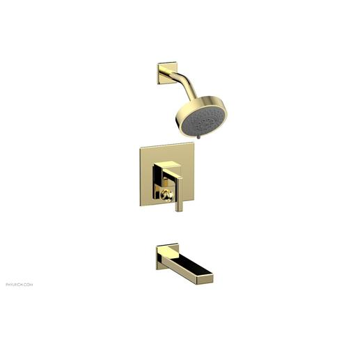 MIX Pressure Balance Tub and Shower Set - Lever Handle 290-27 - Polished Brass
