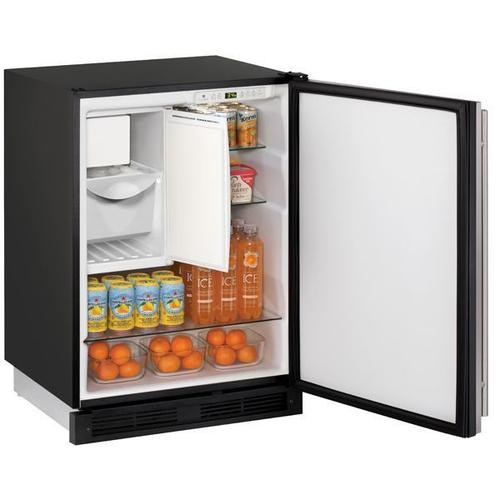 "24"" Refrigerator/ice Maker With Stainless Solid Finish, No (115 V/60 Hz Volts /60 Hz Hz)"