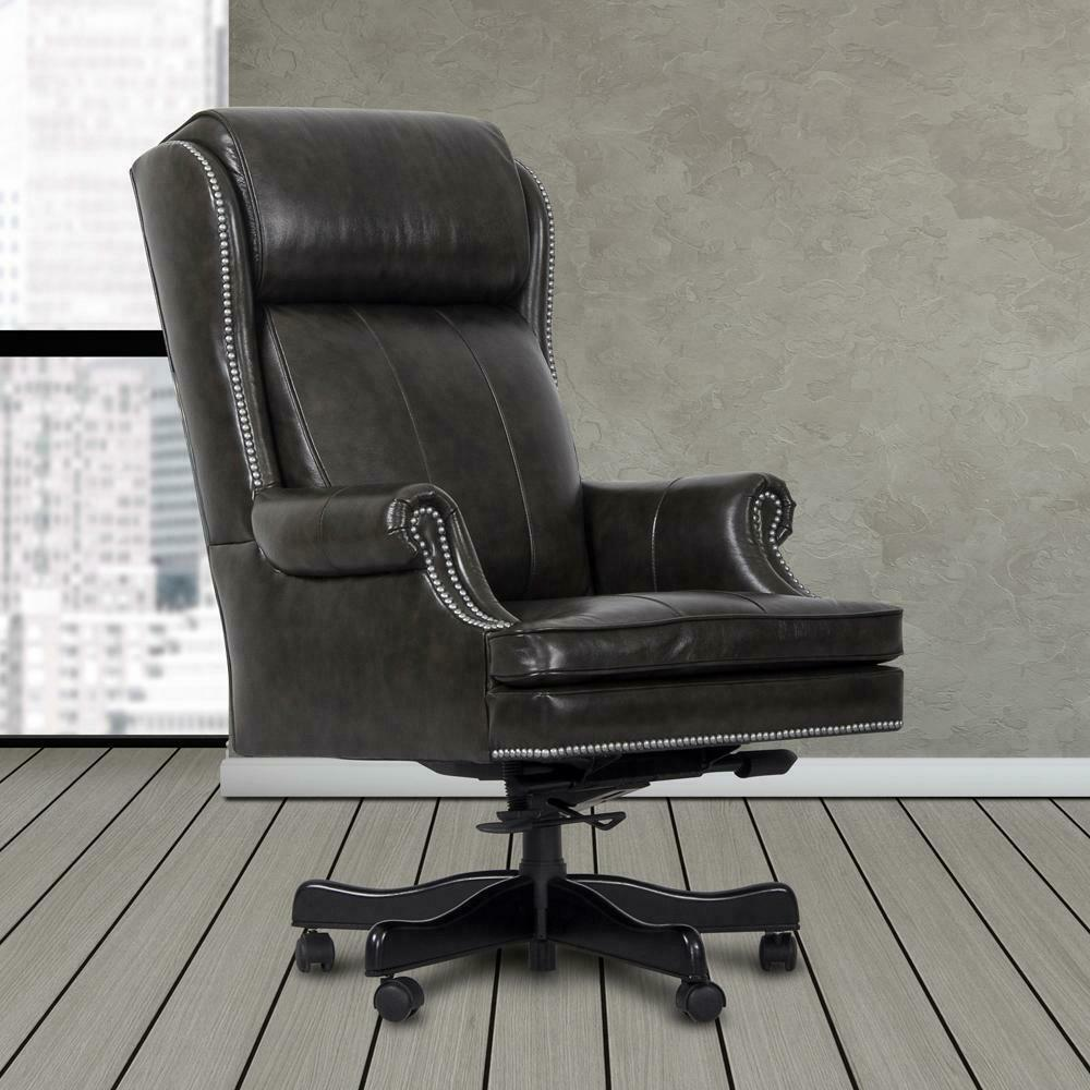 See Details - DC#105-PGR - DESK CHAIR Leather Desk Chair