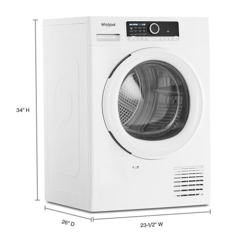 """Whirlpool - 4.3 Cu. Ft. 24"""" Small Space Ventless Dryer"""