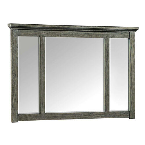 Oak Park Mirror  Pewter