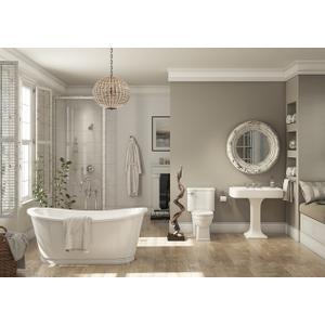 Balthazar Bathtub with White Exterior