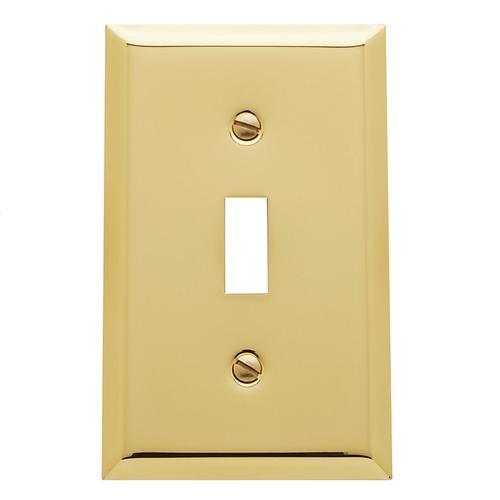 Polished Brass Beveled Edge Single Toggle
