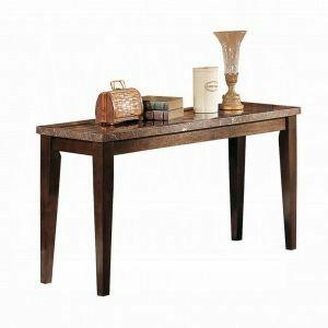 ACME Danville Sofa Table - 07144B - Black Marble & Walnut