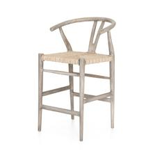 Counter Stool Size Weathered Grey Finish Muestra Bar + Counter Stool