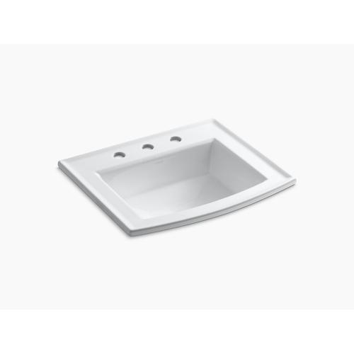 "Ice Grey Drop-in Bathroom Sink With 8"" Widespread Faucet Holes"