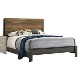ACME Sheldon Eastern King Bed - 26197EK - Oak & Gray