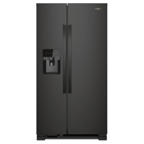 36-inch Wide Side-by-Side Refrigerator - 24 cu. ft. Black