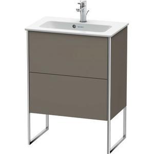 Vanity Unit Floorstanding Compact, Flannel Gray Satin Matte (lacquer)