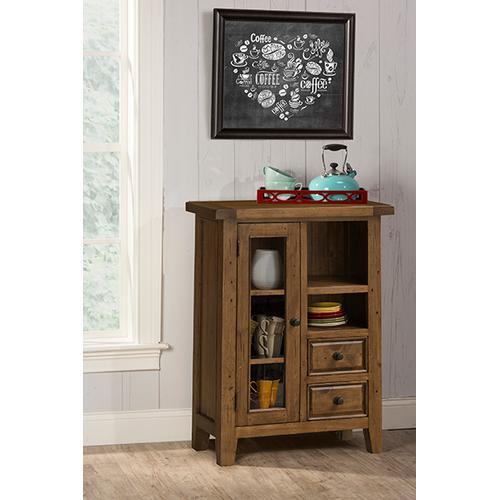 See Details - Tuscan Retreat® Coffee Cabinet - Metal Runner - Antique Pine