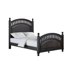 Kids Full Poster Bed Headboard in Charcoal Brown