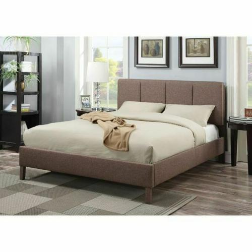 ACME Rosanna Queen Bed - 25080Q - Light Brown Linen