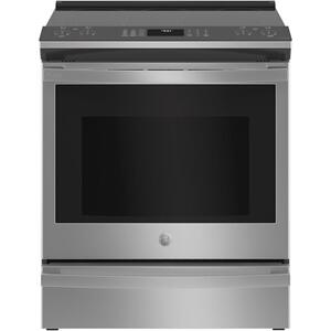 "GE  GE Profile™ 30"" Smart Slide-In Electric Convection Fingerprint Resistant Range with No Preheat Air Fry"