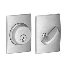 Single Cylinder Deadbolt with Century trim - Satin Chrome