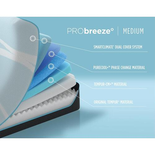 TEMPUR-breeze - PRObreeze - Medium - Split King