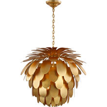 View Product - E. F. Chapman Cynara 6 Light 37 inch Gild Chandelier Ceiling Light, Grande