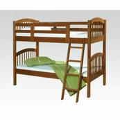 ACME Manville Twin/Twin Bunk Bed - 37115B - Honey Oak