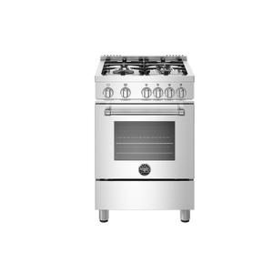 "Bertazzoni  NEW! 24"" Master Series range - Gas oven - 4 aluminum burners - LP"