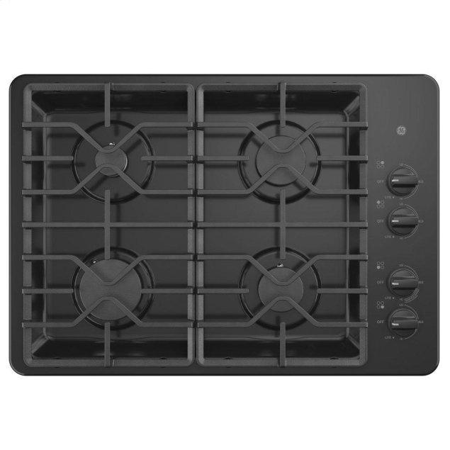 "GE 30"" Built-In Gas Cooktop with Dishwasher-Safe Grates"