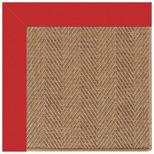 "Capel Rugs - Islamorada-Herringbone Canvas Jockey Red - Rectangle - 24"" x 36"""