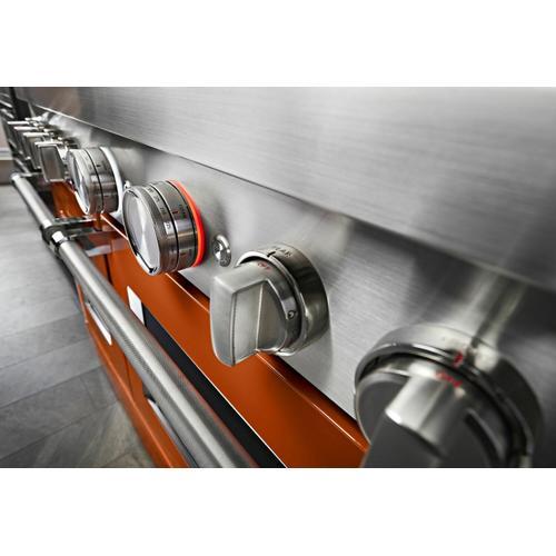 KitchenAid Canada - KitchenAid® 48'' Smart Commercial-Style Dual Fuel Range with Griddle - Scorched Orange