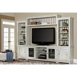 Wall Unit - Distressed White Finish
