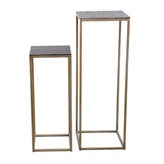 Studio Plant Tables Brass Set Of 2