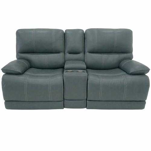 Parker House - SHELBY - CABRERA AZURE Power Console Loveseat