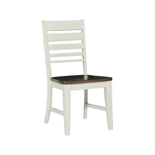 Gallery - Ladderback Chair in Taupe & Pewter
