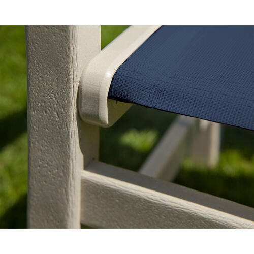Sand & Navy Blue Coastal Dining Chair