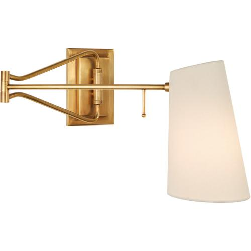 AERIN Keil 29 inch 40 watt Hand-Rubbed Antique Brass Swing Arm Wall Light