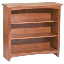 "GAC 36""H x 36""W McKenzie Alder Bookcase in Antique Cherry Finish"